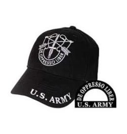 Army Special Forces Hat with Emblem Black