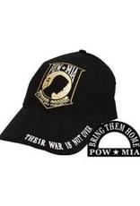 MidMil POW-MIA Hat with Emblem Black