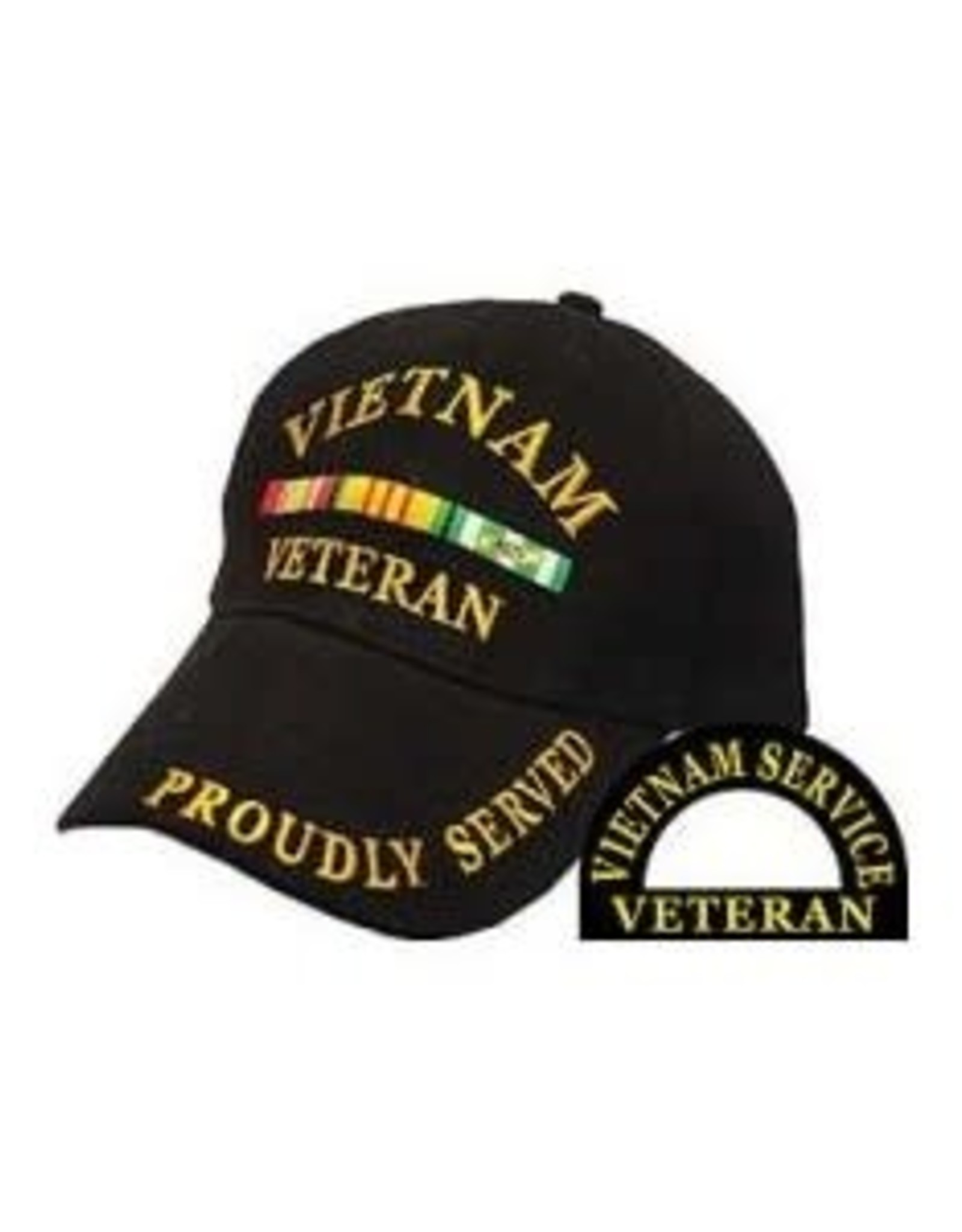 MidMil Vietnam Veteran Hat with Ribbons Black