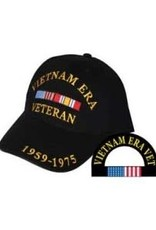 MidMil Vietnam Era Veteran Hat with Ribbons Black