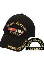 MidMil Iraqi Freedom Veteran Hat with Ribbons Black