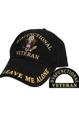 """MidMil Dysfunctional Veteran Hat with """"Leave Me Alone"""" Black"""