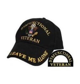 "MidMil Dysfunctional Veteran Hat with ""Leave Me Alone"" Black"