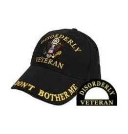 "MidMil Disorderly Veteran Hat with ""Don't Bother Me"" Black"