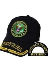 """MidMil Army Seal Hat with Wheat and """"Retired"""" on  Bill Black"""