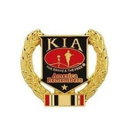 MidMil Iraq KIA Wreath Pin 1 1/8""