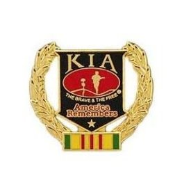 MidMil KIA Vietnam Wreath Pin 1""
