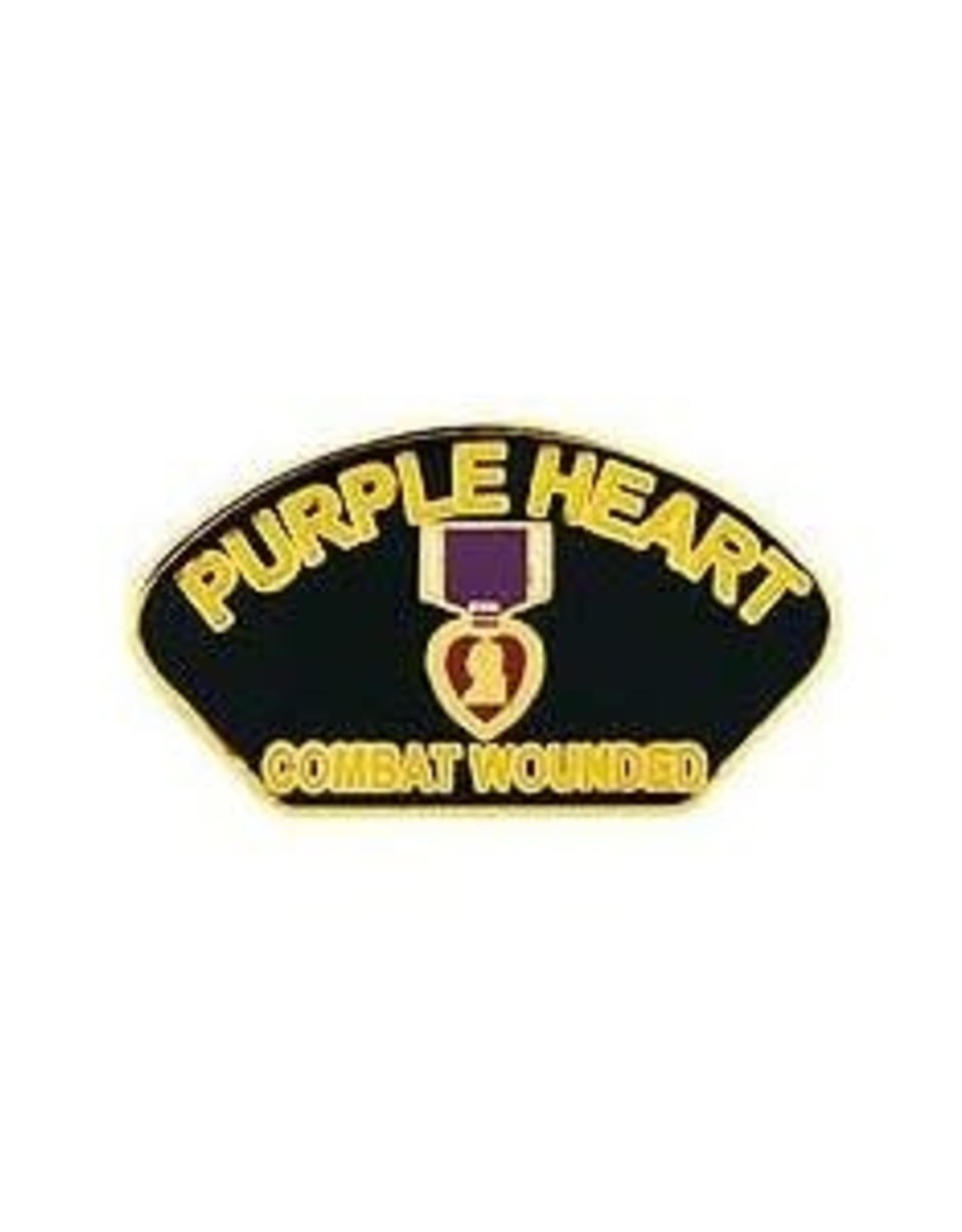 MidMil Purple Heart Combat Wounded Pin