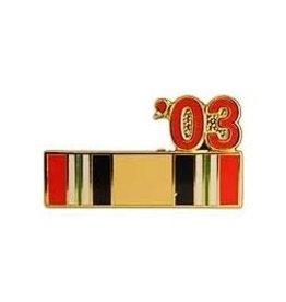 "Iraq Campaign Ribbon '03 Pin 7/8"""