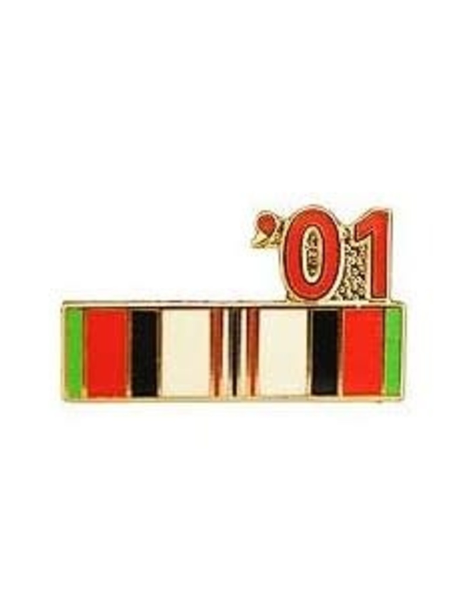 """MidMil Operation Enduring Freedom Campaign Ribbon '01 Pin 7/8"""""""
