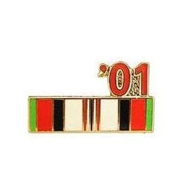 MidMil Operation Enduring Freedom Campaign Ribbon '01 Pin 7/8""
