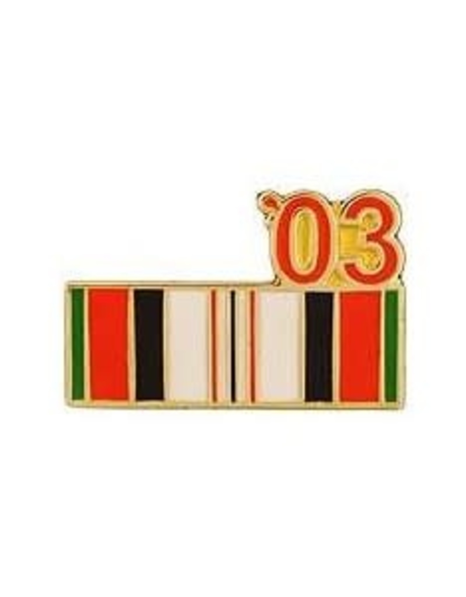 """MidMil Operation Enduring Freedom Campaign Ribbon '03 Pin 7/8"""""""