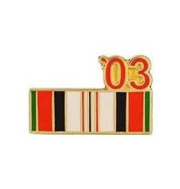 MidMil Operation Enduring Freedom Campaign Ribbon '03 Pin 7/8""