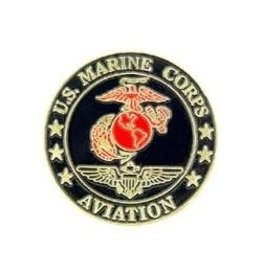 MidMil Marine Corps Aviation Pin 1""