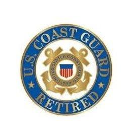 "MidMil Coast Guard Seal Retired Pin 1"""