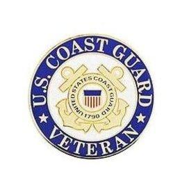 """Coast Guard Seal Veteran Pin 1"""""""