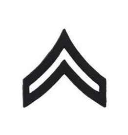 "MidMil Army Corporal (E-4) Pin Black 1"""
