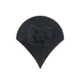 "MidMil Army Specialist (E-4) Pin Black 1"""