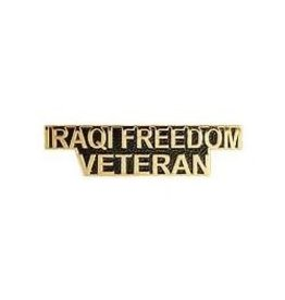 MidMil Iraqi Freedom Veteran Text Pin 1 1/2""