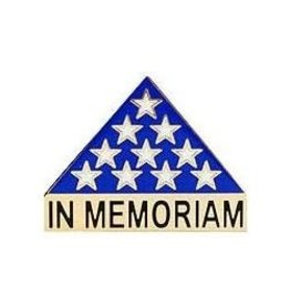 "MidMil Flag Memorial Triangle ""In Memoriam"" Pin 1"""