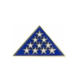 Flag Memorial Triangle Pin 1""