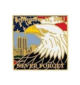 MidMil September 11th Never Forget Pin 1""