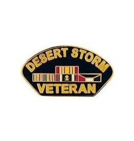 """MidMil Desert Storm Veteran Pin with Ribbons including Kuwait  1 1/4"""""""