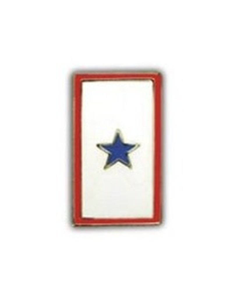"""MidMil Blue Star (Family Member in Service) Pin 1"""""""