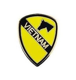 MidMil 1st Cavalry Division Vietnam Pin 1""