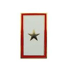 """MidMil Gold Star Pin 1"""""""
