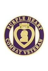 MidMil Purple Heart Combat Veteran Pin