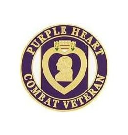 MidMil Purple Heart Combat Veteran Pin