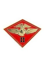 MidMil 2nd Marine Aircraft Wing MAW Emblem Pin 1 1/8""
