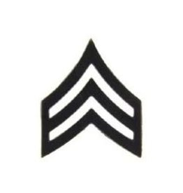 "MidMil Army Sergeant (E-5) Pin Black 1"""