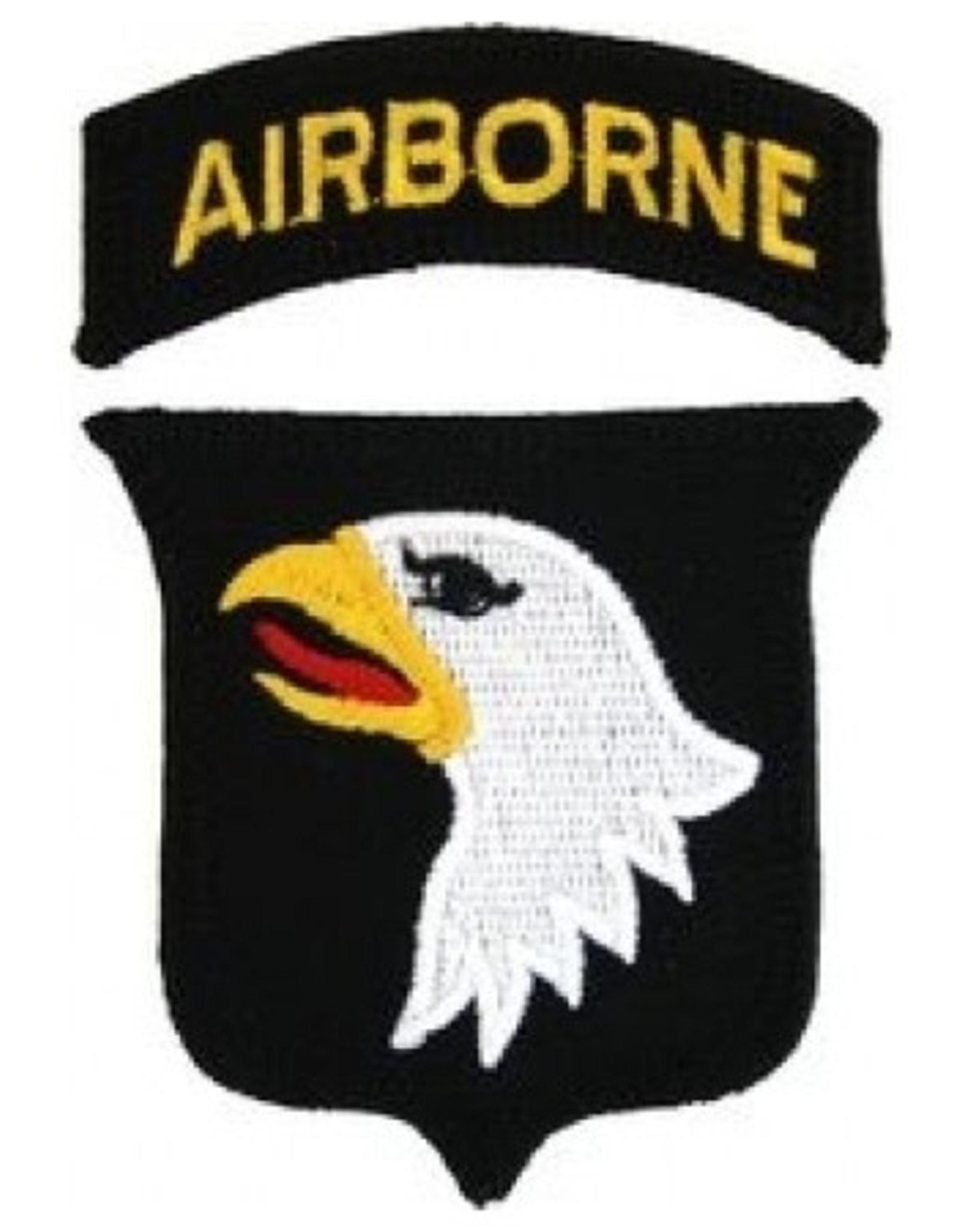 MidMil Embroidered Gold on Black Army Airborne Tab Patch