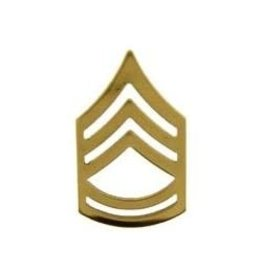 MidMil Army Sergeant 1st Class (E-7) Open Gold Rank Pin 1""