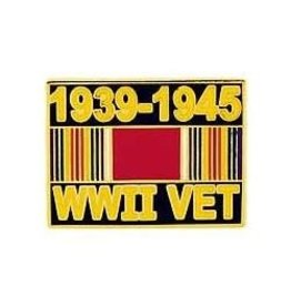 MidMil WWII VET 1939-1945 Pin with Ribbon 1""