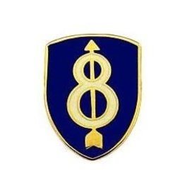 """MidMil 8th Infantry Division Emblem Pin 1"""""""