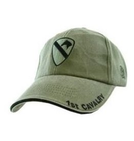 Army 1st Cavalry Hat with Emblem Olive Drab