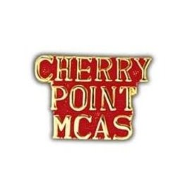 MidMil Cherry Point MCAS Text Pin 1""