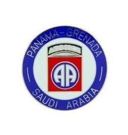 "MidMil Panama/Grenada/Saudi Arabia 82nd Airborne Pin 1"""