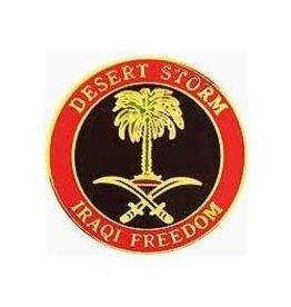 """MidMil Desert Storm/Iraqi Freedom Pin 1"""""""