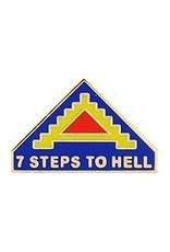 "MidMil 7th Army Emblem Pin with Motto ""Seven Steps To Hell"" 1"""