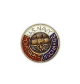 MidMil Navy Honorable Discharge Pin 5/8""