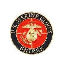 "MidMil Marine Corps Sniper Pin 1"""