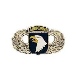 """101st Airborne Division Parachutists Wings Pin  1 1/2"""""""