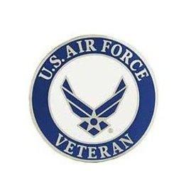 """Air Force Veteran Wing Emblem Pin 1 1/2"""""""