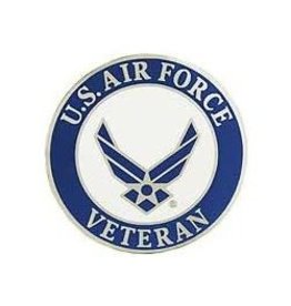"MidMil Air Force Veteran Wing Emblem Pin 1 1/2"""