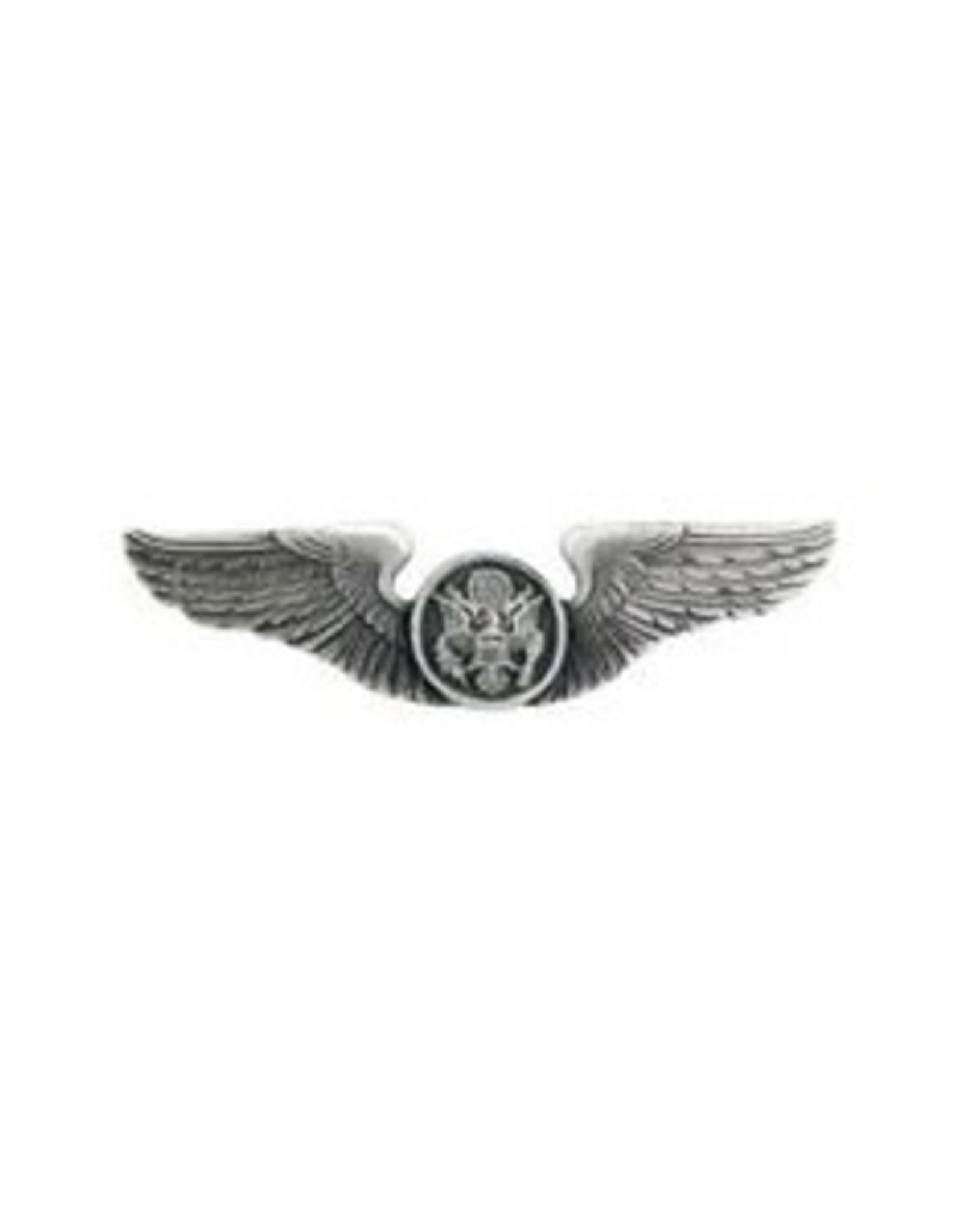 "MidMil Air Force Air Crew Wings Pin. 2"" wide."