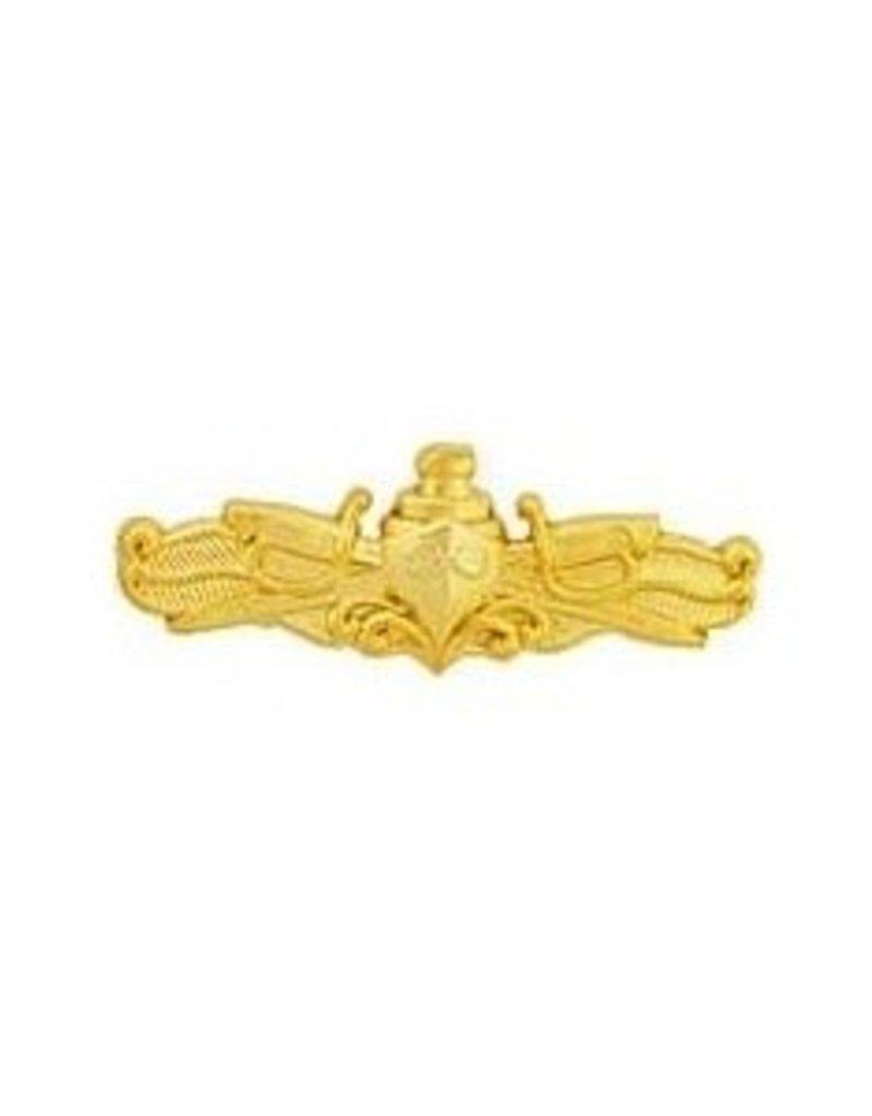 """MidMil Navy Surface Warfare Badge Pin 1 3/8"""" Gold"""